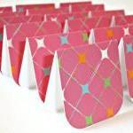 Pink star sparkle pattern mini card..